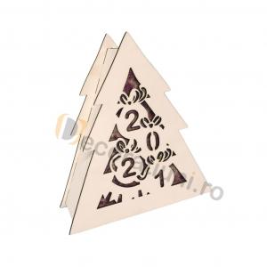 Cutie din lemn pentru cadou de Craciun - model bradut6