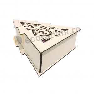 Cutie din lemn pentru cadou de Craciun - model bradut7