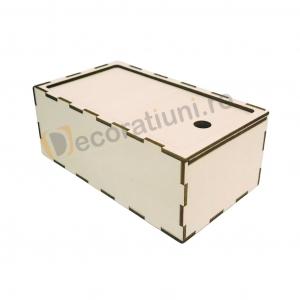 Cutie din lemn dreptunghiulara cu capac pe sina4