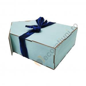 Cutie din lemn pentru cadouri - model casa [5]