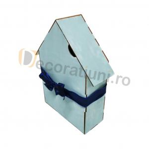 Cutie din lemn pentru cadouri - model casa [2]