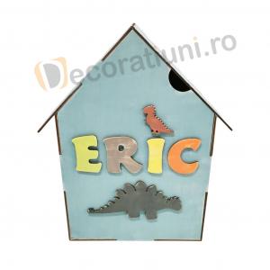 Cutie din lemn pentru cadouri - model casa [9]