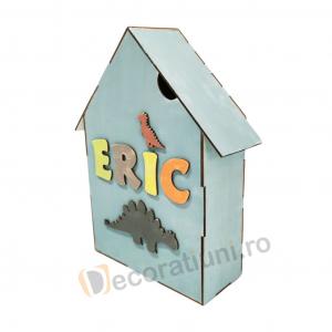 Cutie din lemn pentru cadouri - model casa [7]