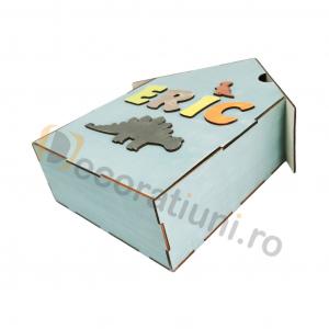 Cutie din lemn pentru cadouri - model casa [6]