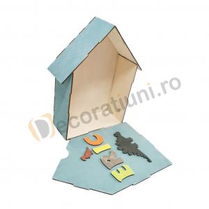 Cutie din lemn pentru cadouri - model casa [8]