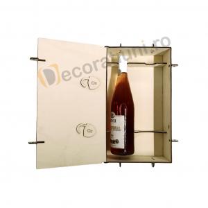 Cutie din lemn pentru 2 sticle de vin - model lada8