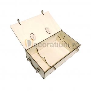 Cutie din lemn pentru 2 sticle de vin - model lada7