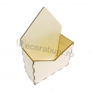 Cutie din lemn - model plic0