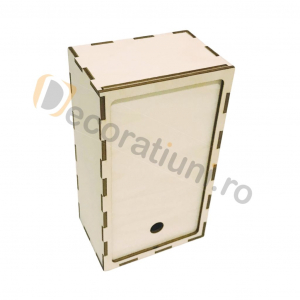 Cutie din lemn dreptunghiulara cu capac pe sina [1]