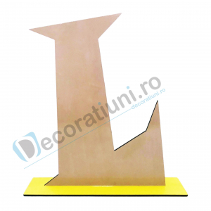 Litere decorative din lemn - model Big Letters4