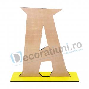 Litere decorative din lemn - model Big Letters1