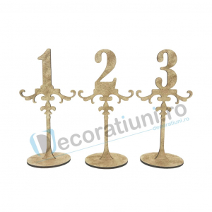 Numere de masa pentru nunta - model ROYAL cu suport0