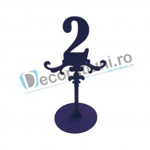 Numere de masa pentru nunta - model ROYAL cu suport1