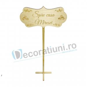 Panou decorativ din lemn pentru nunta - model Spre casa Miresei2