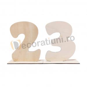 Set 2 cifre din lemn cu suport - 30cm inaltime0