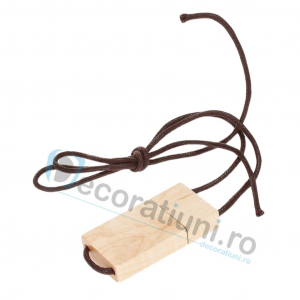 Stick usb cu snur si cutie personalizata - lemn artar1