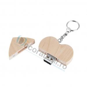 Stick usb inima si cutie din lemn - lemn artar3