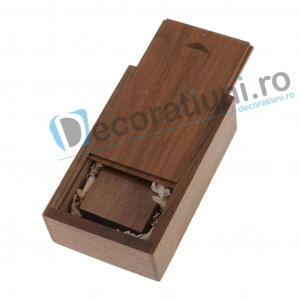Stick usb personalizat blanko si cutie - lemn nuc2
