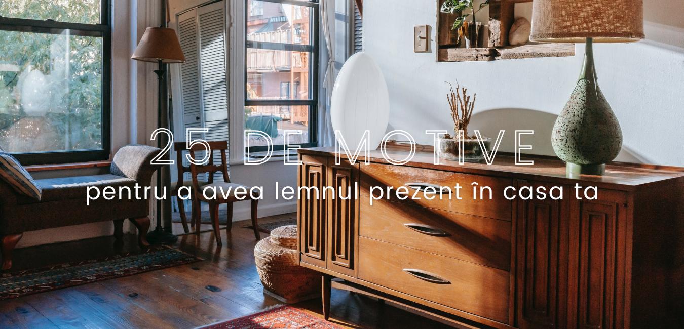 25 de motive pentru a avea lemnul prezent în casa ta