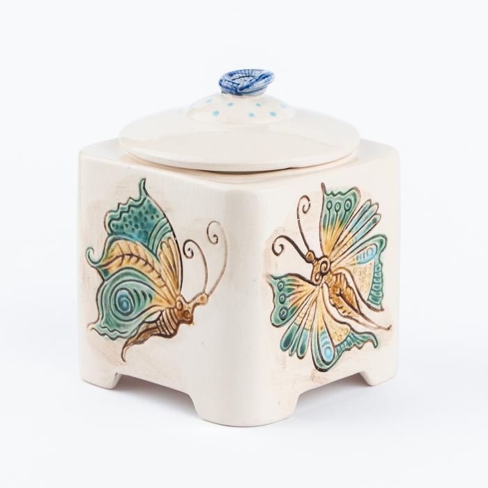 Recipient decorativ din ceramică pentru biscuiți [7]