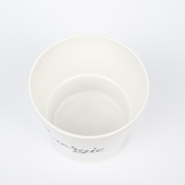 Ghiveci ceramică pictat manual, cuvânt ENERGIE [2]
