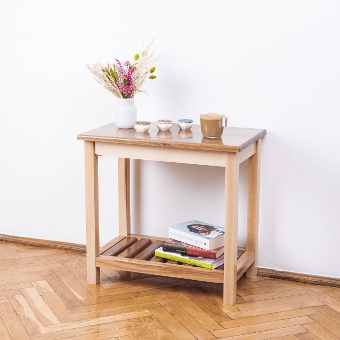 Măsuță de cafea dreptunghiulară, lemn masiv de fag [3]