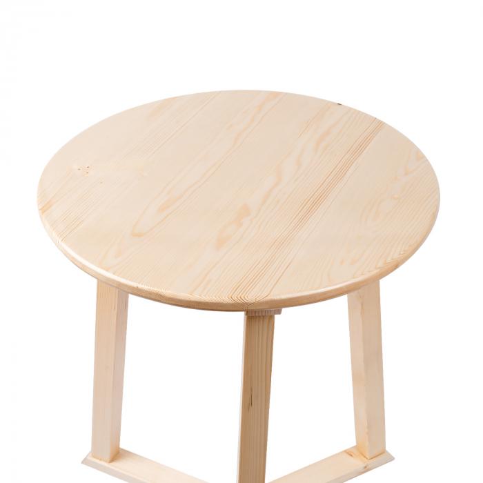 Măsuță de cafea rotundă, lemn masiv de pin [8]