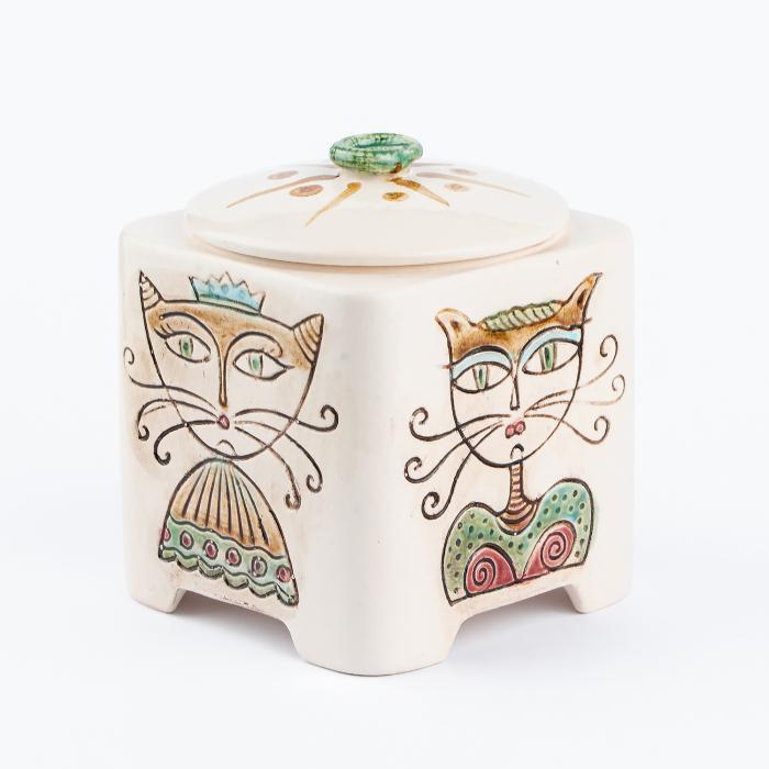 Recipient decorativ din ceramică pentru biscuiți [6]