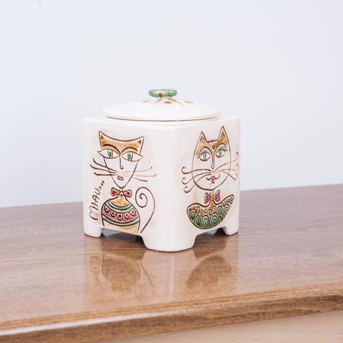Recipient decorativ din ceramică pentru biscuiți [3]