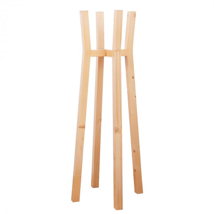 Set suporturi pentru flori din lemn masiv, tip stâlpi [7]