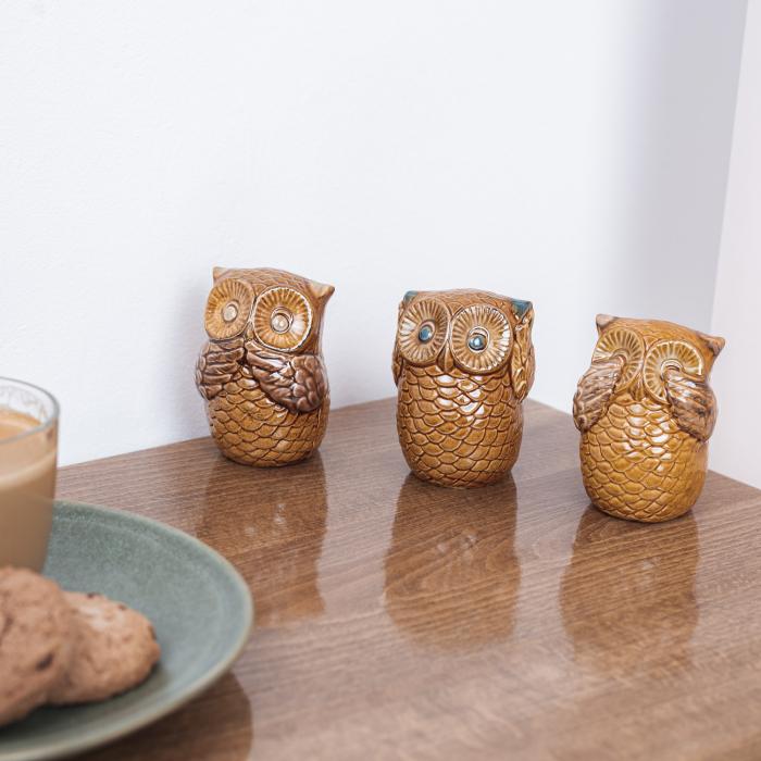 Set 3 bufnițe decorative din ceramică [1]