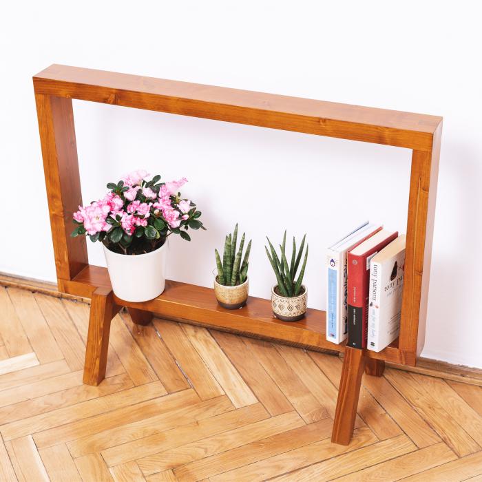 Suport din lemn masiv pentru flori, tip ramă [5]