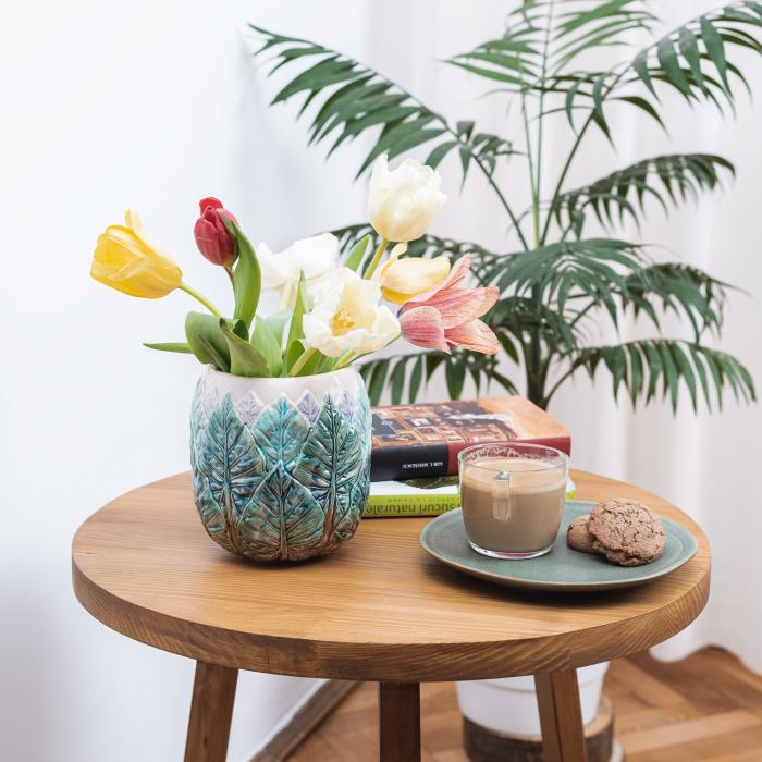 Vază pentru flori realizată manual din ceramică [2]