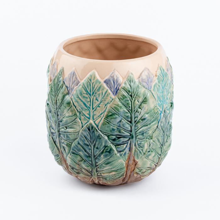 Vază pentru flori realizată manual din ceramică [3]