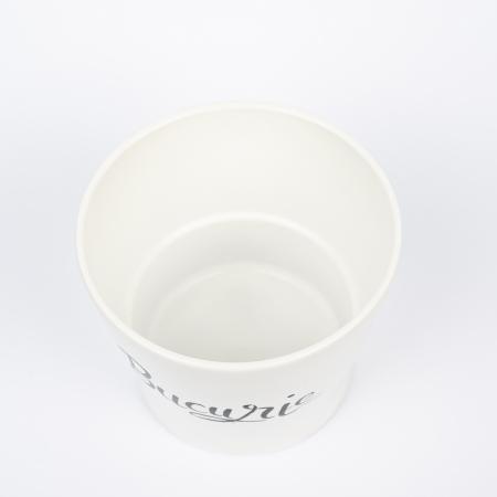 Ghiveci ceramică pictat manual, cuvânt BUCURIE [2]