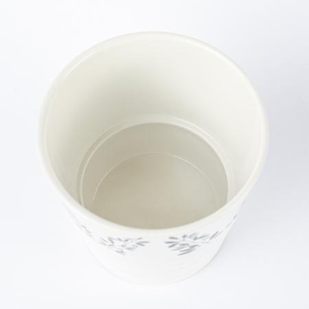 Ghiveci ceramică pictat manual, ilustrație vegetală [2]
