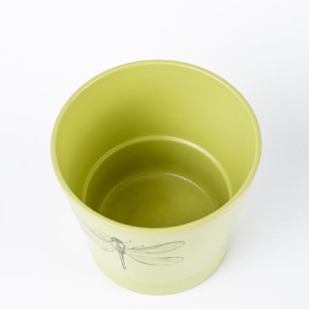 Ghiveci ceramică pictat manual, ilustrație libelulă [2]