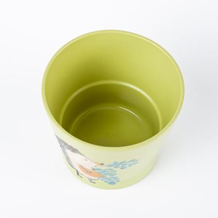 Ghiveci ceramică pictat manual, ilustrație arici [2]