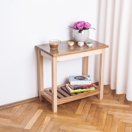 Măsuță de cafea dreptunghiulară, lemn masiv de fag [0]