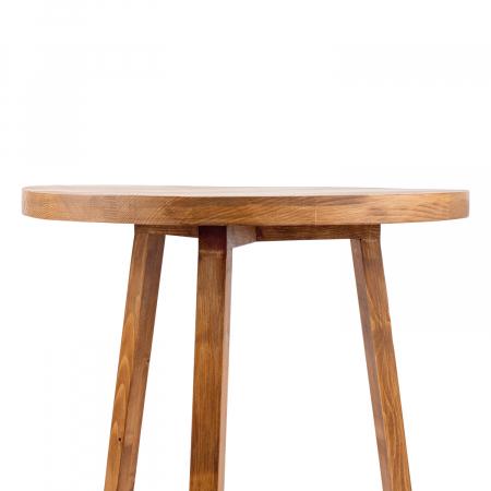 Măsuță de cafea rotundă, lemn masiv de brad [8]