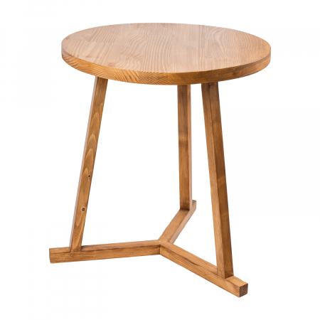 Măsuță de cafea rotundă, lemn masiv de brad [7]