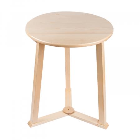 Măsuță de cafea rotundă, lemn masiv de pin [7]