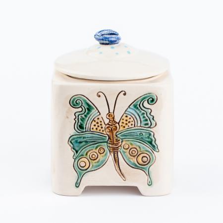 Recipient decorativ din ceramică pentru biscuiți [5]