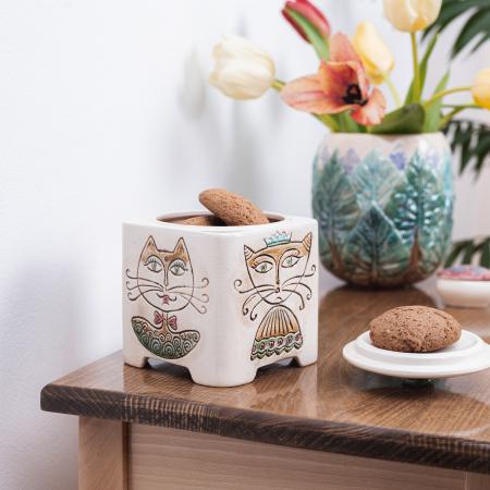 Recipient decorativ din ceramică pentru biscuiți [4]