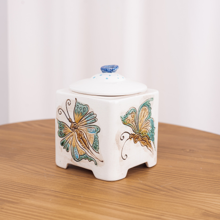 Recipient decorativ din ceramică pentru biscuiți [2]
