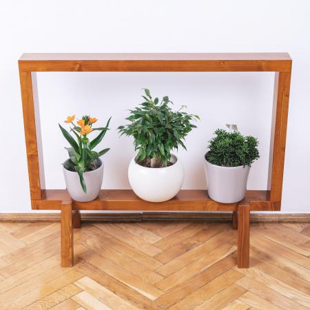 Suport din lemn masiv pentru flori, tip ramă [4]