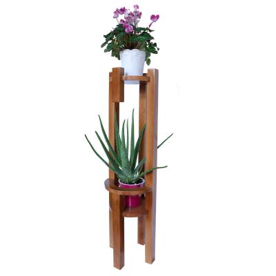 Suport pentru plante, polițe rotunde, lemn masiv de stejar [1]