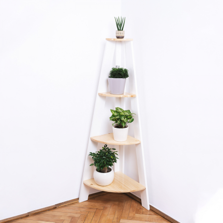 Suport supraetajat pentru plante, așezare pe colț [2]