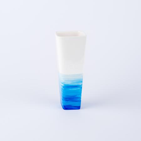 Vază ceramică pictată manual, ilustrație apa mării [2]