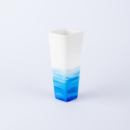 Vază ceramică pictată manual, ilustrație apa mării [1]